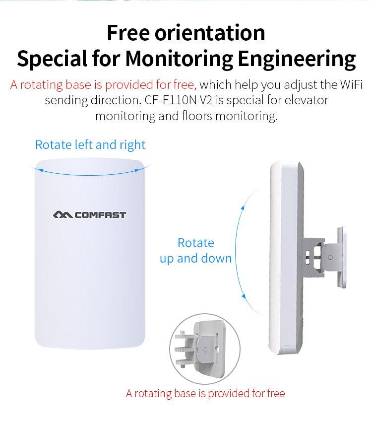 300Mbps CF-E110N V2 3km MINI pont sans fil/extérieur CPE/wifi routeur répéteur pour amplificateur de portée de projet de caméra