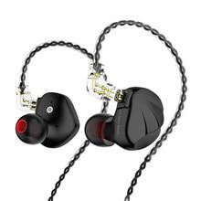 سماعات أذن TRN VX داخل الأذن 6BA + 1DD الهجين 7 وحدات القيادة سماعة أذن معدنية HIFI شاشة IEM V90 BA5 C12 C16 ZSX CA16 NX7PRO