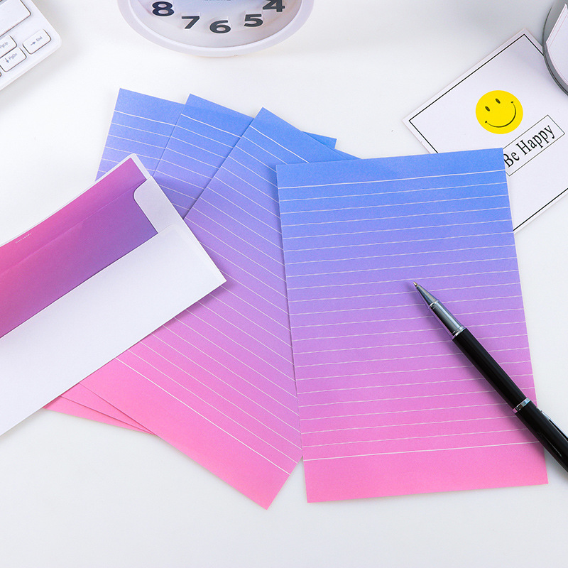 Kawaii Writing Paper Letter Set For Kids Gift School Office Supplies Student Envelope Stationery Planner Diary