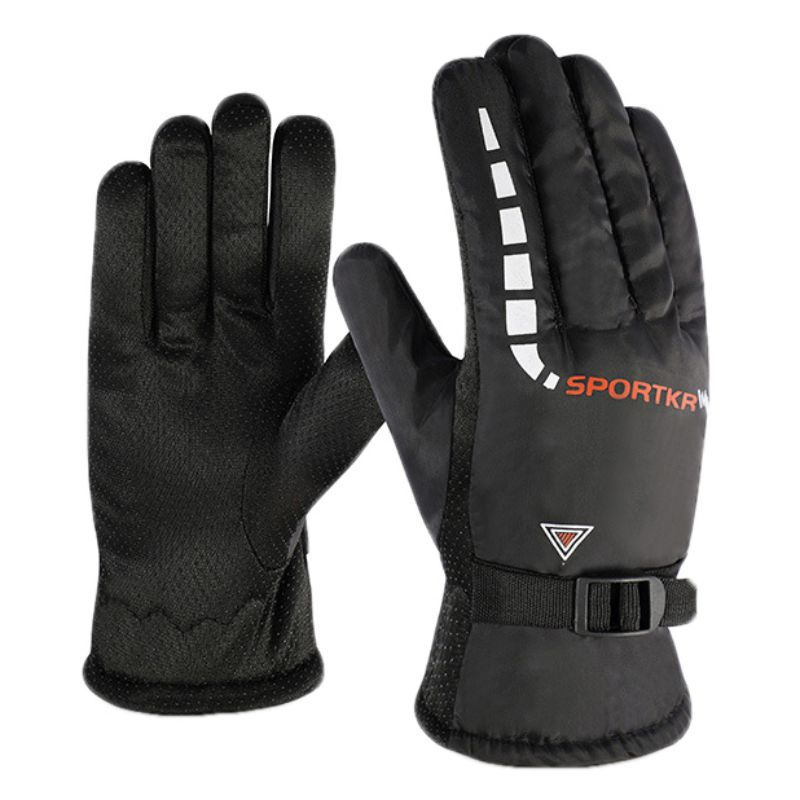 Winter Windproof Waterproof Snow Gloves Unisex Ski Gloves Fleece Snowboard Gloves For Outdoor Motorcycle Riding