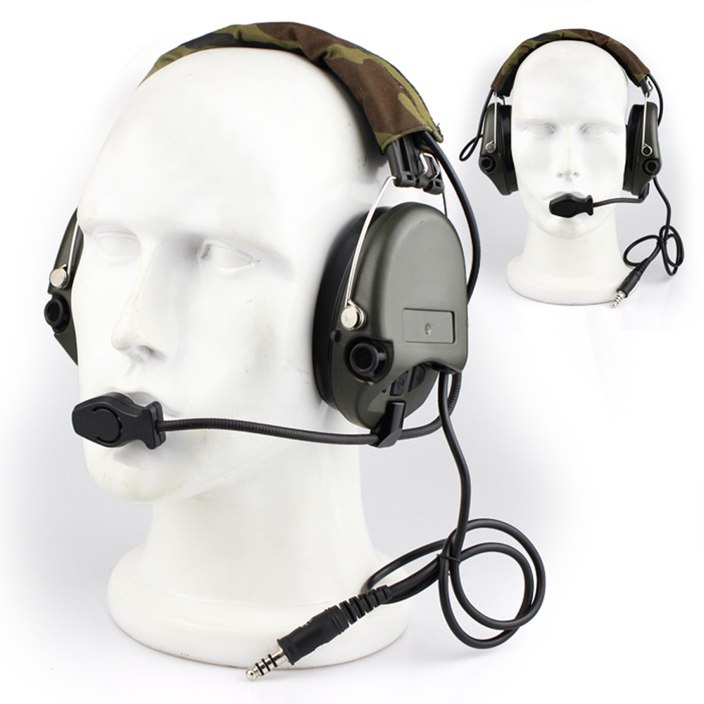 Casque de chasse Airsoft casque tactique Camouflage casque Standard militaire casque antibruit casque de talkie-walkie Aviation