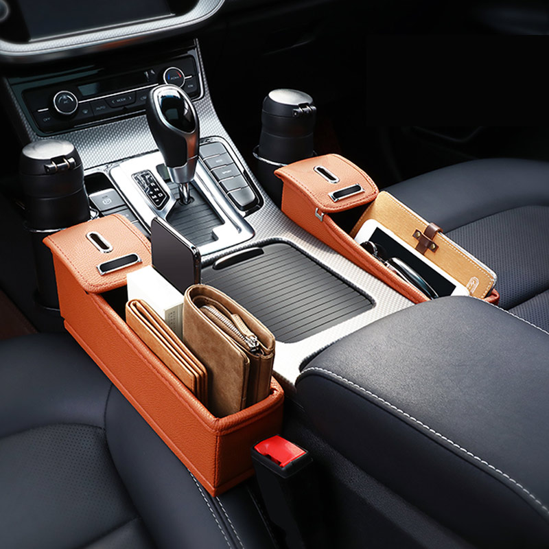 Car leather Seat Storage Box Cup Coin Box Drink Holder Multifunctional water cup