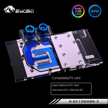 Bykski Water Block For Galaxy Geforce 1060 ,For Gainword GTX 1060 ,GPU Block Support Sync M/B ,VGA Cooling ,N-GY1060BK-X image