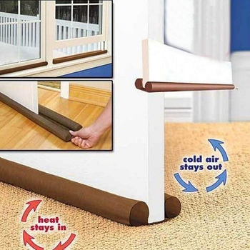 86x11cm Guard Stopper Double Door Bottom sealing strip Guard Wind Dust Blocker Sealer Stopper Twin Doorstop Sealer Stopper