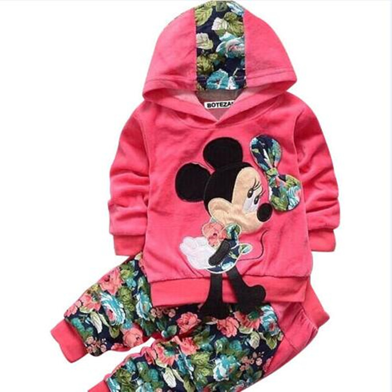 Mädchen Kleidung Sets Baby jungen Sport Anzüge Kinder Mickey Minnie Cartoon T-shirt Und Hosen Set Neue Frühjahr Mode Kinder Kleidung