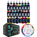 OPHIR Airbrush Acrylic Paint 24 Colors Airbrush DIY Paint for Model Shoes Leather Painting Airbrush DIY Pigment Ink TA005(1-24)