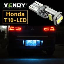 цена на 1pcs W5W T10 LED License Plate Lights Bulb Lamp For Honda civic crv fit accord jazz accord 8 smax Insight Odyssey Pilot CRZ HRV