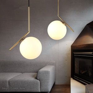 Image 1 - Modern Glass Ball Pendant Light kitchen hanging lamps Hang Lamp Nordic Home Decor Light Fixtures christmas decorations for home