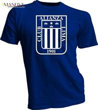 Alianza Lima Peru Futbol Soccer T Shirt Camiseta Jersey Handmade Tee 2019 Summer Brand Hip Hop Fitness Clothing Men T-Shirt цены онлайн