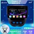 Автомобильный мультимедийный видео плеер OKNAVI, Android 9,0, для Peugeot 107, Toyota Aygo, Citroen C1, 2005-2014, радио, стерео, GPS навигация, BT