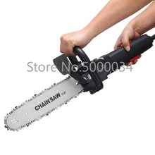 Angle Grinder Modified Electric Chain Saw Holder Variable Cutting Machine Household Hand-Held Electric Chain Saw Logging