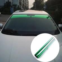 Верхнее переднее лобовое стекло фольга Солнечная защита градиентная черная 20x150 см Автомобильная Тонировочная пленка со скребком и ножом
