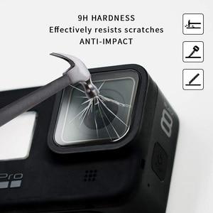 Image 3 - VSKEY 100 قطعة الزجاج المقسى ل GoPro بطل 8 كاميرا LCD واقي للشاشة عدسة غطاء طبقة رقيقة واقية ل بطل 8 أسود