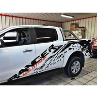 car decals mudslinger ranger with red wildtrack body rear tail side graphic vinyl custom for Ford ranger or wildtrack 2012 2019