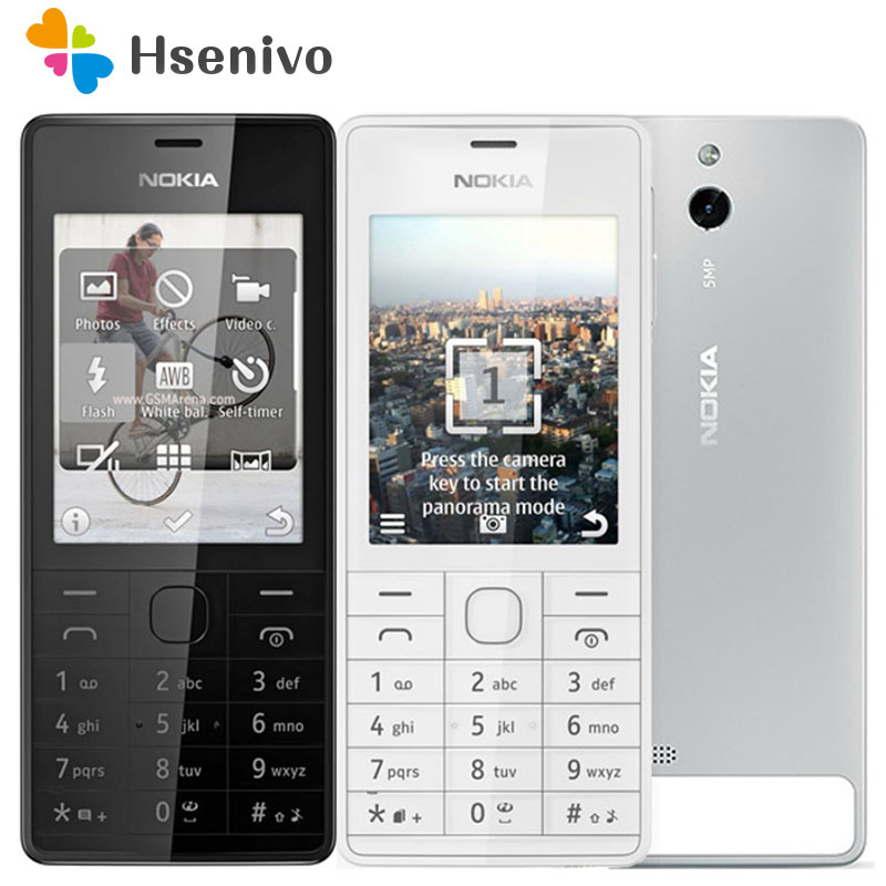 515 Original Unlocked <font><b>Nokia</b></font> 515 Single Dual Sim Card 2.4 'Inch <font><b>5MP</b></font> <font><b>Camera</b></font> 1200mAh Single Core Cellphone Free shipping image
