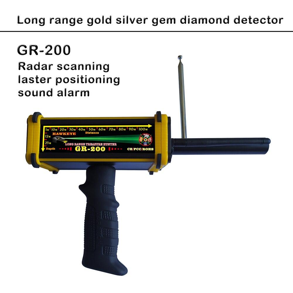 Expédition rapide nouvelle version GR-200 Radar balayage Laser positionnement alarme sonore longue portée trésor chasse or détecteur de métaux