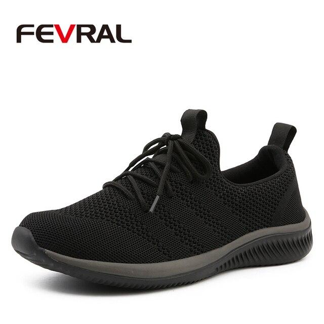 Fevral男性カジュアルシューズ有名な快適なスニーカー2021夏秋トレーナー男性通気性軽量靴サイズ39 44