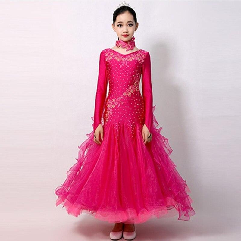 Ballroom Dance Competition Dresses Waltz Dance Dress For Girls Tango Dance Costumes For Kids Ballroom Dancing Dresses For Kids