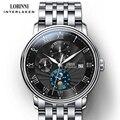 Schweiz armbanduhr LOBINNI Männer Uhren Seagull Automatische Mechanische Uhr Sapphire Schwarz Mode relogio masculino 1023M-9