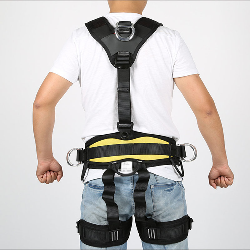 Professional Outdoor Sports Safety Belt Rock Climbing Harness Waist Support Half Body Harness Aerial Survival Equipment