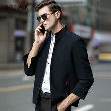 UCAK Brand Fashion Jackets Men Free Shipping Plaid Tops Casual Chaquetas Hombre New Spring Coat Streetwear Jacket  Men U8052