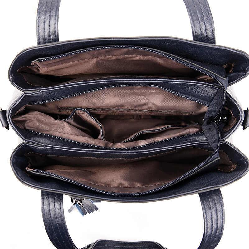Grote Capaciteit Tassen Voor Vrouwen 2020 Merk Luxe Handtassen Vrouwen Tassen Designer 3 Zakken Schouder Crossbody Tassen Voor Vrouwen