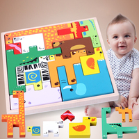 Animal Stereo Puzzle Early Educational Toy 3D Puzzles Games and Puzzles Birhday Gift 2019 New Arrival