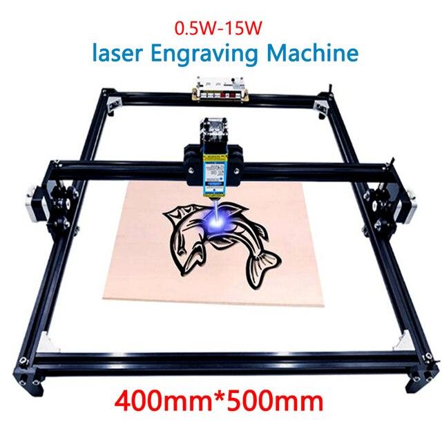 40x50 lazer gravür makinesi 0.5 1.5w DIY mini lazer gravür ahşap plastik deri paslanmaz çelik vb lazer kesici işaretleme plotter