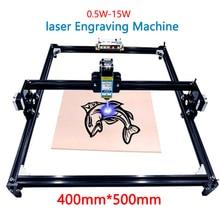 Mini grabador láser para madera, plástico, cuero, acero inoxidable, etc. Cortador láser, trazador de marcado, 40x50, 0,5 1,5 w