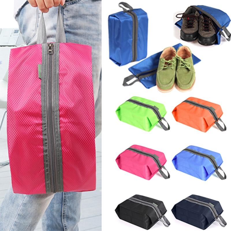 women men Portable Organizer Shoes Storage Bag PVC Waterproof Dustproof Hanging Save Space Closet Rack Hangers Travel Supplies