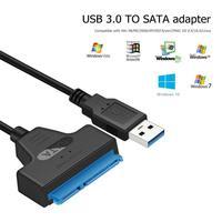 Convertidor de Cable de disco duro USB 3,0 a SATA3 + 22 Pines, adaptador USB de 5Gbps para SSD de 2,5 pulgadas, HDD, adaptador de Cable SATA