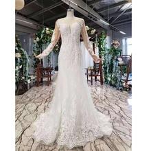 BGW HT43025 Свадебные платья русалки тяжелые Свадебные платья ручной работы с кристаллами Длинные трубы 2020 модный дизайн со съемным шлейфом