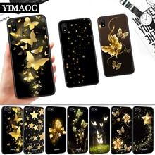 Golden Butterflies Sars Flower Silicone Soft Case for Redmi 4A 4X 5 Plus 5A 6 Pro 6A 7 7A S2 Go K20 Note Prime 8