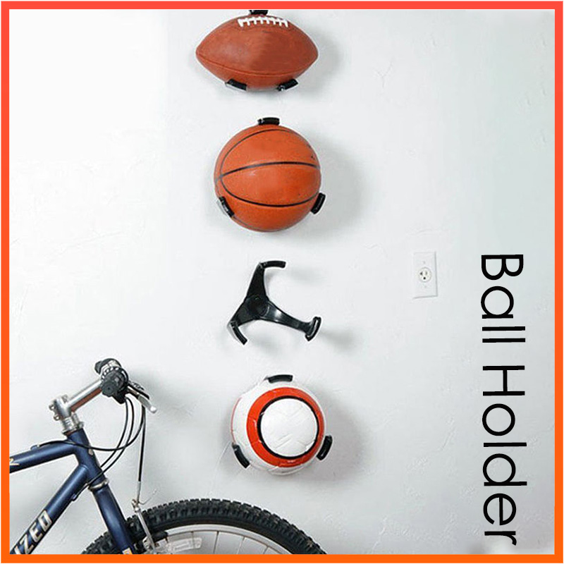 Ball Holder Claw Basketball Holder Plastic Stand Support Football Soccer Rugby Standing Supplies Home Storage Holders
