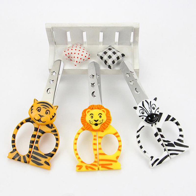 1 Pcs Cute DIY Forest Animal Tiger Lion Horse Plastic Scissors For Paper Cutter Scrapbooking Office School Korean Stationery