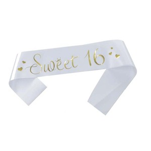 Image 3 - White Pink Sweet 16 Princess Birthday Sash Girls 16th Birthday Party Decoration Ideas Supplies Favor Gifts