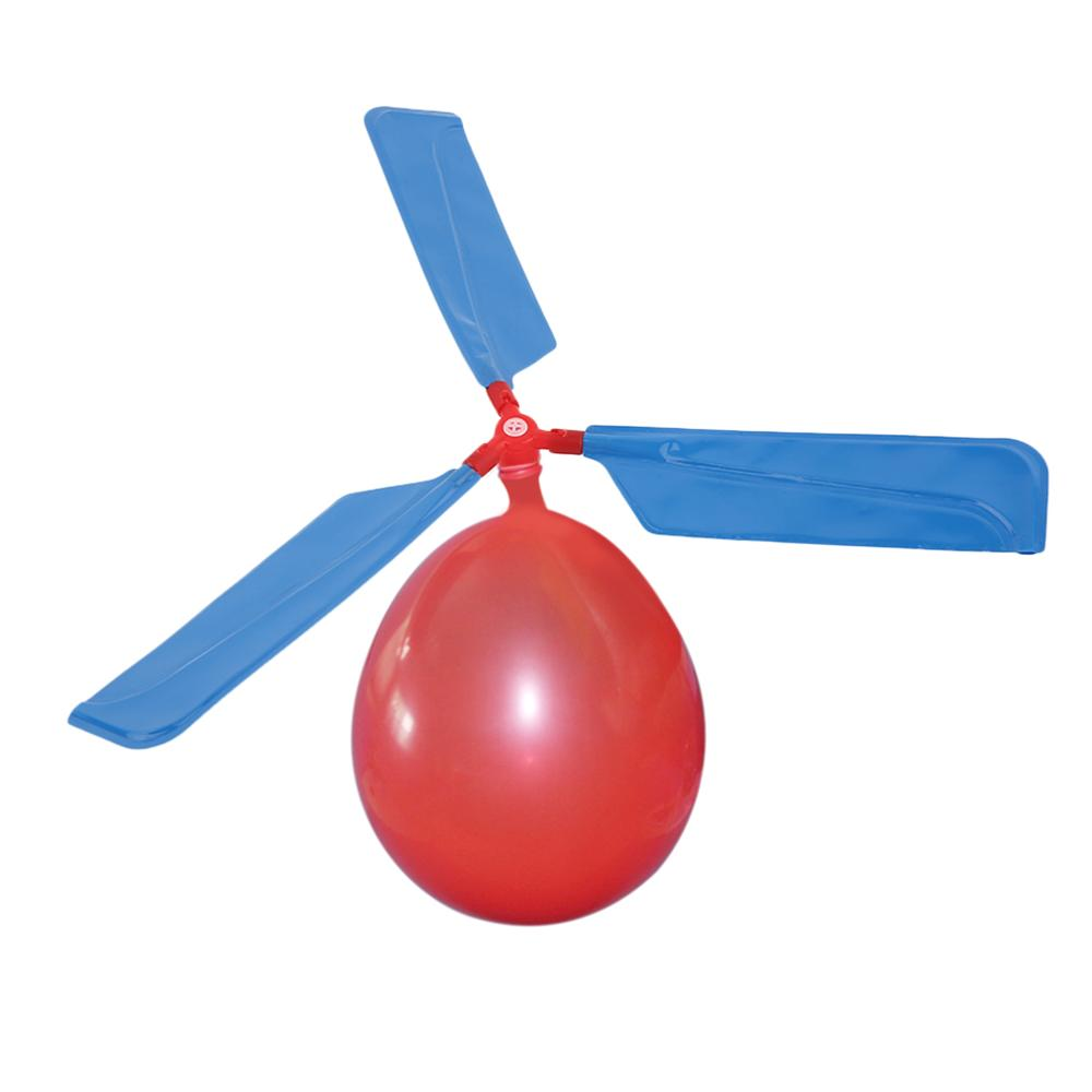 2019 Hot Sale Balloon Helicopter Environmental Creative Toys Balloon Aircraft Propeller Kids Traditional Classic Flying Toys