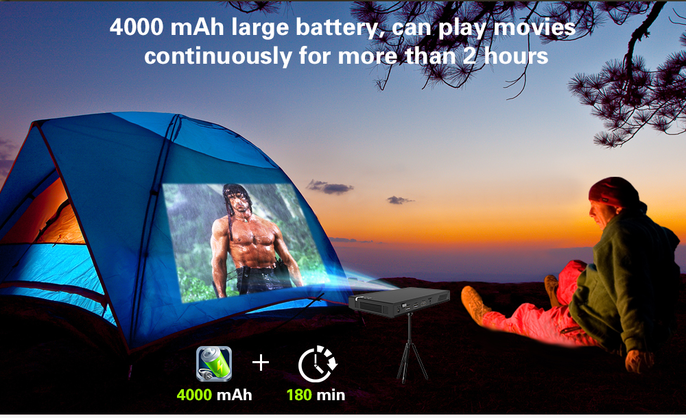 CRENOVA Wireless and Remote Control Mini Projector With Bluetooth and 16GB ROM 11