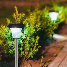 LED Solar Power Street Post Light IP65 Waterproof For Outdoor Patio Garden Courtyard Lighting