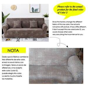 Image 2 - Coolazy estiramento xadrez sofá slipcover elástico capas de sofá para sala de estar funda sofá cadeira capa de sofá decoração de casa 1/2/3/4 seater