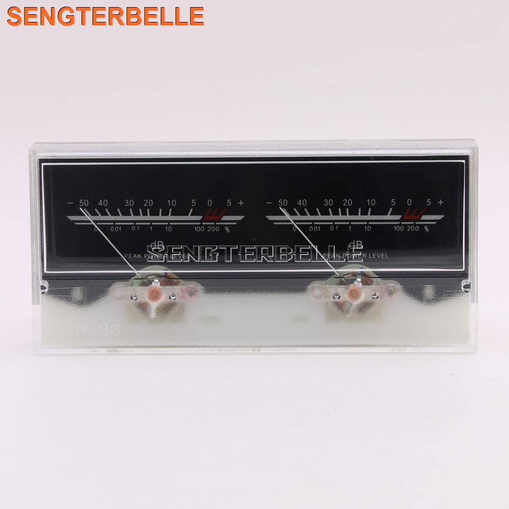 NEW 6.3 Double Pointer Power Amplifier VU Meter DB Level Audio Power Meter With Backlight And Voltage