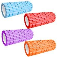 33cm spor Fitness köpük rulo Yoga bloğu spor Pilates Yoga egzersiz geri kas masajı rulo ev eğitim ekipmanları