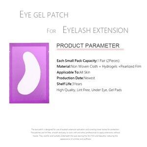 Image 2 - 200pairs/pack Eyelash Pad Gel Patch Grafting Eyelashes Under Eye Patches For Eyelash Extension Paper Sticker Wraps Makeup Tools