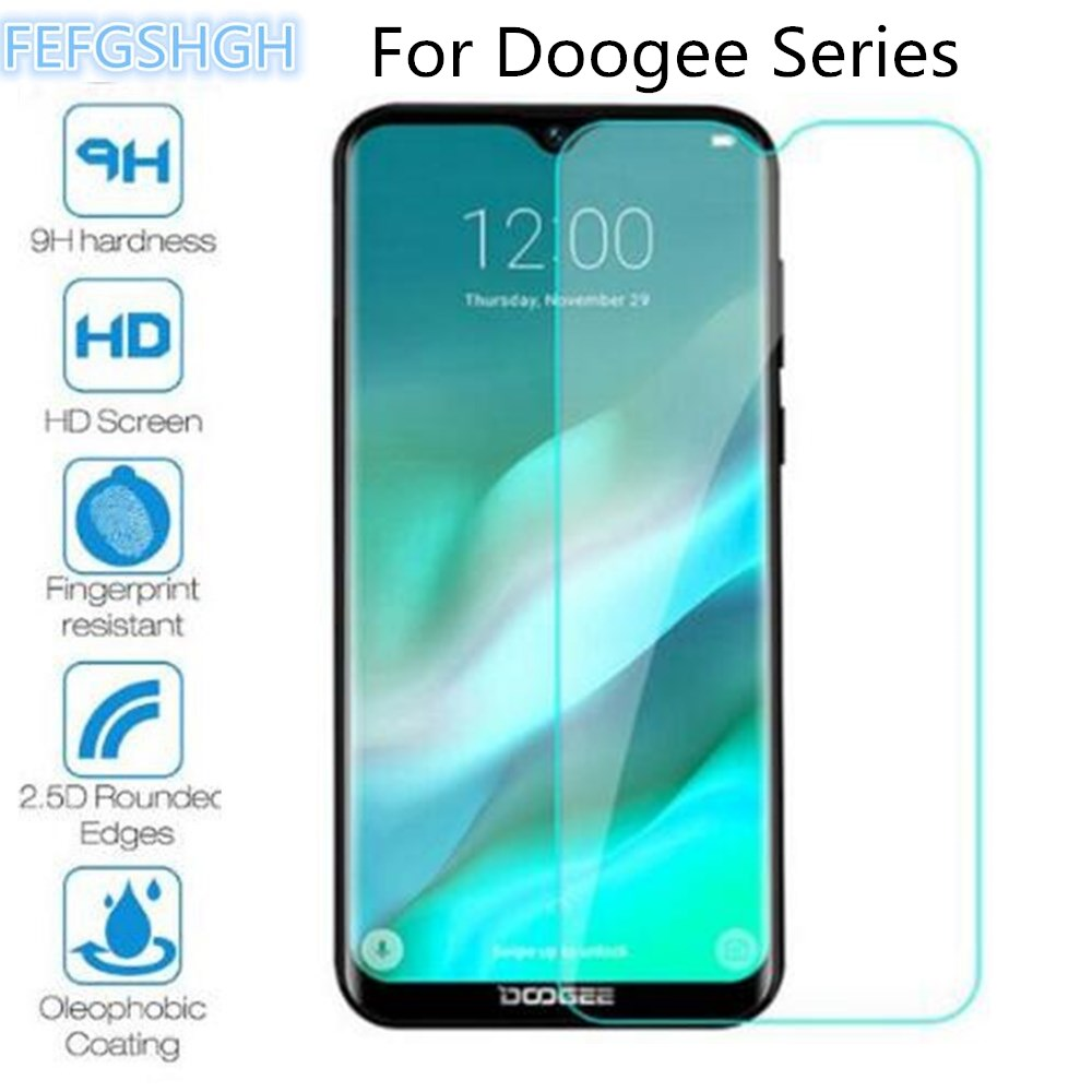 2Pcs Tempered Glass For Doogee S40 S50 S60 S70 S80 S90 Lite X90L X11 Y8 Y8C Y7 N10 Screen Protector Protective Film(China)