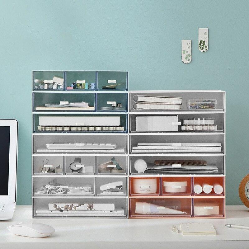 Caja de almacenamiento de escritorio, cajón multifuncional, gabinete de acabado DIY, caja de almacenamiento de joyería apilable, contenedor de oficina en casa|Cajas y recipientes de almacenamiento| - AliExpress