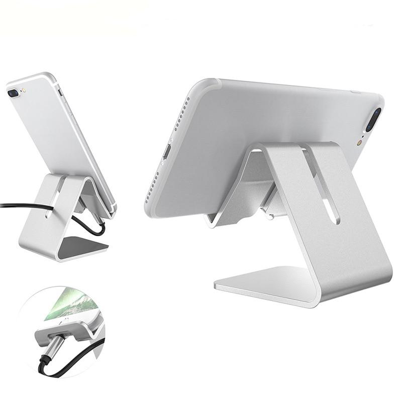 Подставка для смартфона, алюминиевый сплав, мобильный телефон, держатель для настольного зарядного устройства, док-станция для IPhone X Samsung ...