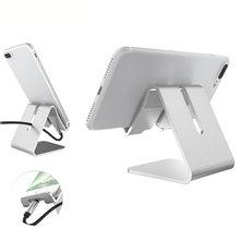 Suporte de smartphone suporte suporte liga de alumínio suportes do telefone móvel para estação doca carregador de mesa para iphone x samsung huawei