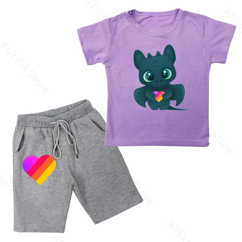 Купить likee new summer baby clothes suit children fashion boy girls