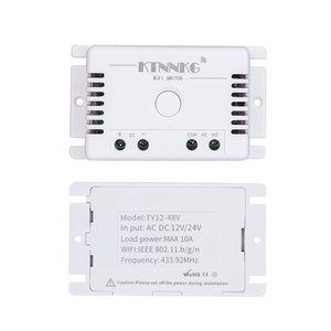 Image 2 - TUYA Smart irrigation turf switch with Wi Fi, 1CH DC 12V 24V 36V 10A 433 Mhz remote relay receiver for voice control DIY LED