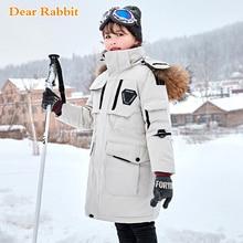 Jacket Parka Ski-Suit Boys Coats Fur White-Duck-Down Baby-Girls Winter Children's New